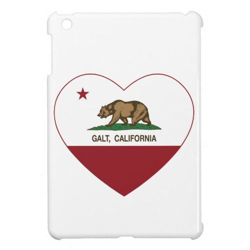 california flag galt heart iPad mini cases