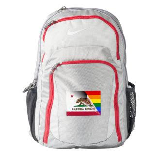 California Flag Gay Pride Rainbow Nike Backpack