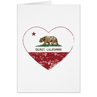 california flag gilroy heart distressed cards