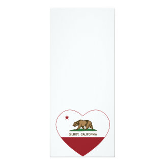 california flag gilroy heart personalized announcement
