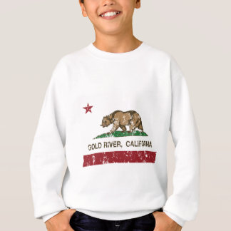 california flag gold river distressed sweatshirt