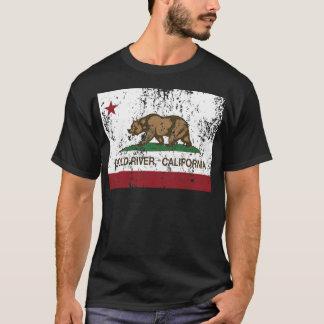 california flag gold river distressed T-Shirt