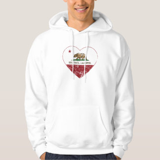 california flag gold river heart distressed hoodie