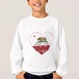 california flag gold river heart distressed sweatshirt