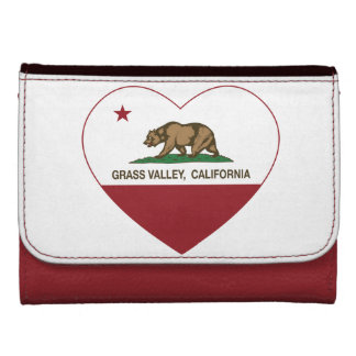 california flag grass valley heart wallet