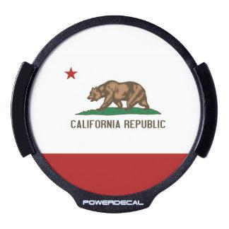 CALIFORNIA FLAG LED CAR WINDOW DECAL