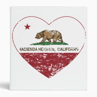 california flag hacienda heights heart distressed binder