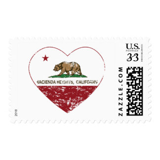 california flag hacienda heights heart distressed stamps