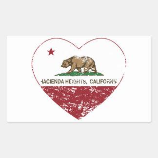 california flag hacienda heights heart distressed rectangular sticker
