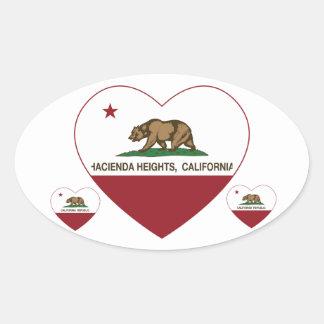 california flag hacienda heights heart oval sticker