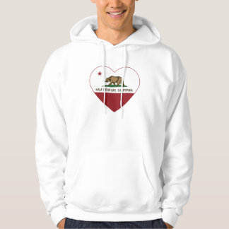 california flag half moon bay heart hoodie