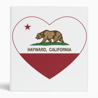 california flag hayward heart 3 ring binder