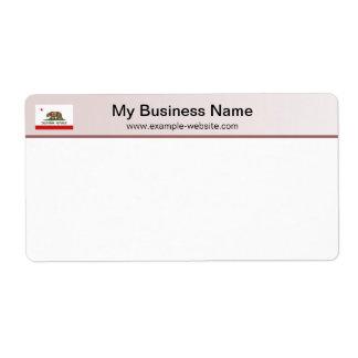 California Flag Header Shipping Label