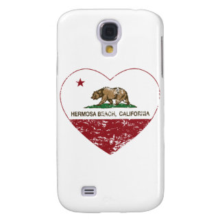 california flag hermosa beach heart distressed galaxy s4 cover