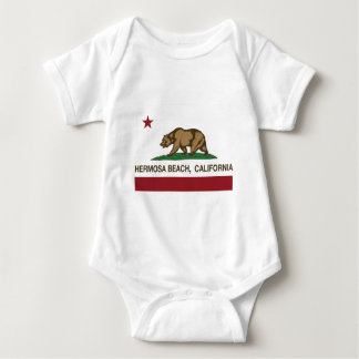 california flag hermosa beach t-shirt
