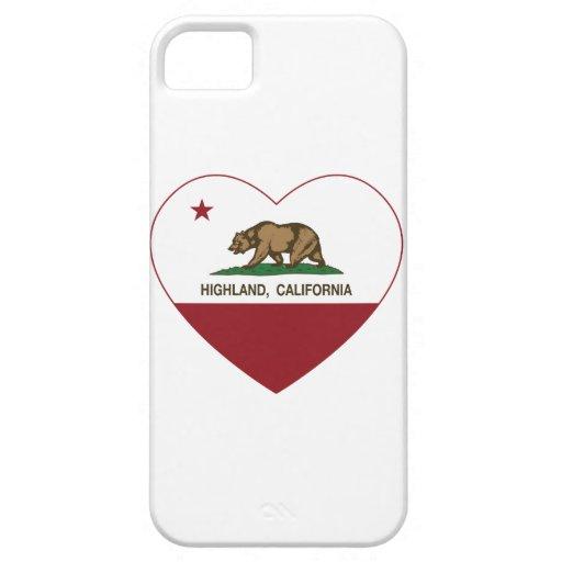 california flag highland heart iPhone 5 case