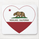 california flag highland heart mouse pads