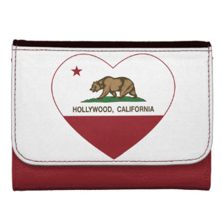 california flag hollywood heart wallet for women