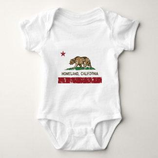 california flag homeland distressed baby bodysuit