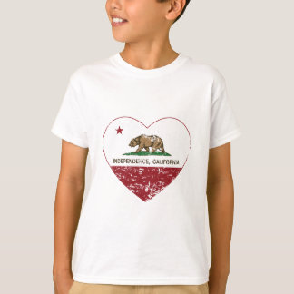 california flag independence heart distressed T-Shirt