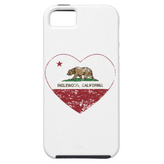 california flag inglewood heart distressed iPhone 5 case