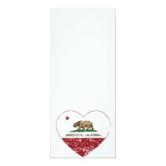 california flag jamestown heart distressed card