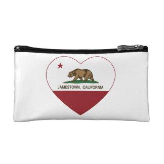 california flag jamestown heart makeup bag