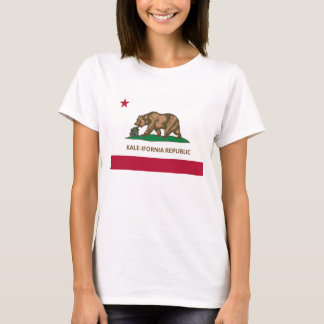 California Flag Kale Version (Kale-ifornia) T-Shirt