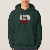 california flag kelseyville heart hoodie