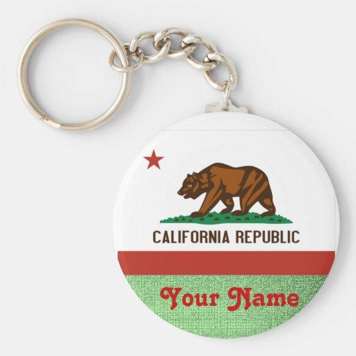 California-  FLAG Key Chains
