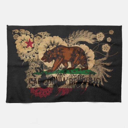 California Flag Kitchen Towel
