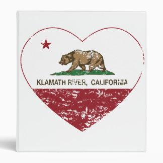 california flag klamath river heart distressed binder