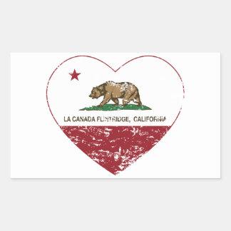 california flag la canada flintridge heart dist rectangular sticker
