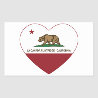 california flag la canada flintridge heart rectangular stickers