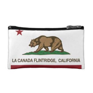 california flag la canada flintridge makeup bag