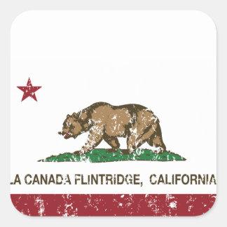 california flag la canada flintridge square stickers