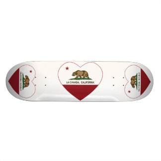 california flag la canada heart skateboard deck