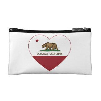 california flag la honda heart makeup bags