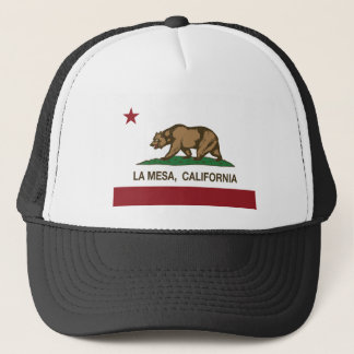 california flag la mesa trucker hat