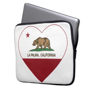 california flag la palma heart laptop computer sleeve