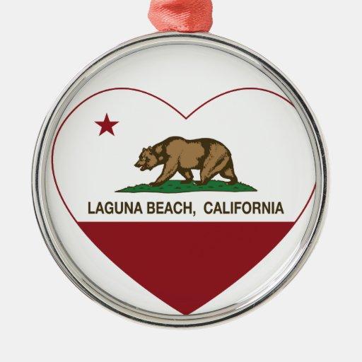 california flag laguna beach heart christmas tree ornaments
