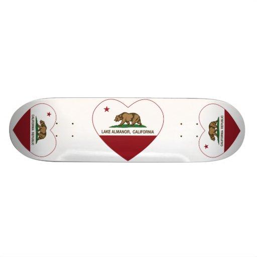california flag lake almanor heart skateboard