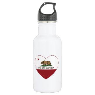 california flag lake city heart water bottle