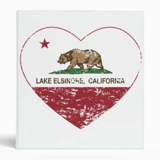 california flag lake elsinore heart distressed binder