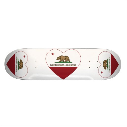 california flag lake elsinore heart skateboard deck