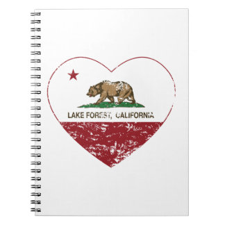 california flag lake forest heart distressed notebook