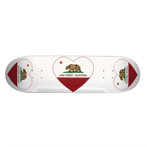 california flag lake forest heart custom skate board