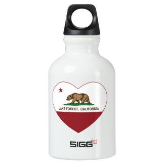 california flag lake forest heart water bottle