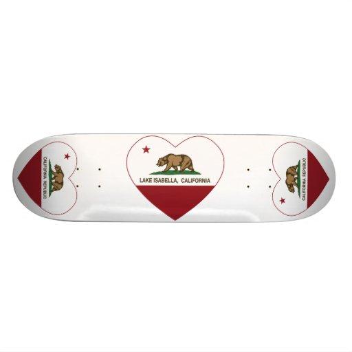california flag lake isabella heart custom skate board