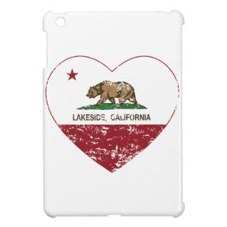 california flag lakeside heart distressed cover for the iPad mini